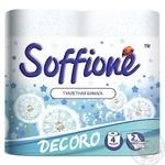 Toilet paper Soffione Decoro 2 ply 4 pcs - buy, prices for Novus - image 1