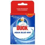 Toilet duck Spare unit toilet cleaner Aqua 4in1 hanging blue 2pcs*40g