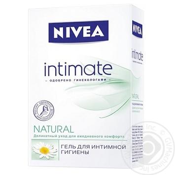 Гель Nivea Intimate Natural деликатный для интимной гигиены с экстрактом ромашки и молочной кислотой 250мл Германия - купить, цены на Восторг - фото 1