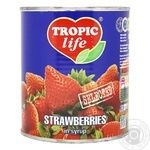 Fruit strawberry Tropic life canned 850g can
