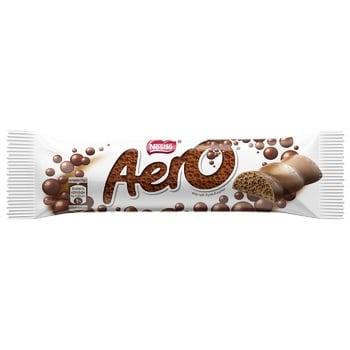 Батончик NESTLÉ® AERO® шоколадний молочний пористий 30г