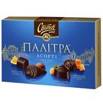 Цукерки СВІТОЧ® Палітра Асорті у чорному шоколаді 200г