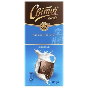 Шоколад молочний СВІТОЧ® 85г
