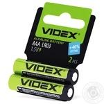 Батарейки Videx лужні LR03/ААA 2шт