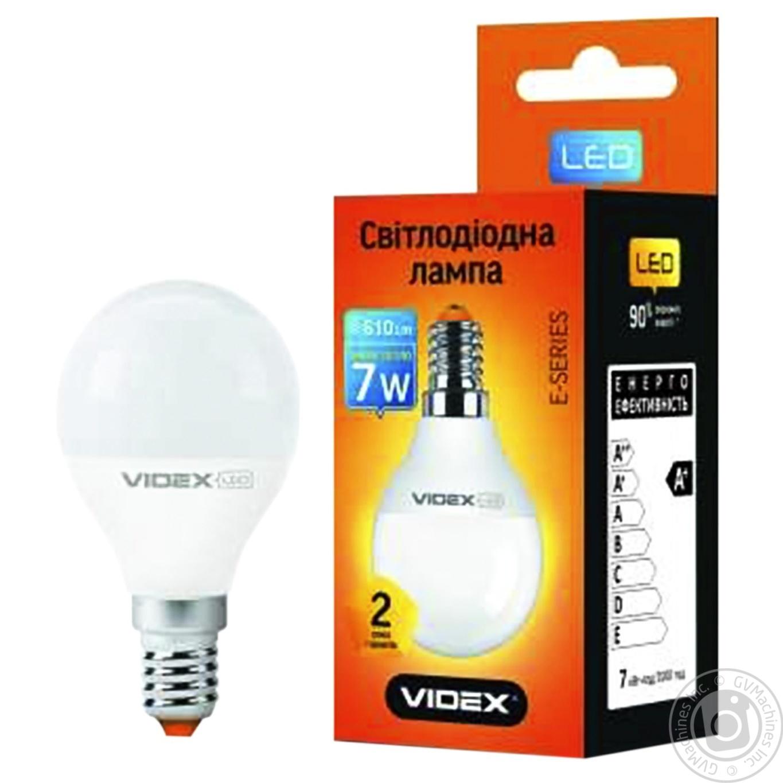 Купить 623, Лампа светодиодная Videx LED G45E 7W E14 3000K