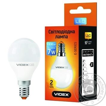 Лампа светодиодная Videx LED G45E 7W E14 4100K - купить, цены на Таврия В - фото 1