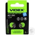 Батарейка Videx лужна AG3 LR41 2шт