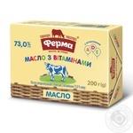 Масло солодковершкове Ферма Для дітей 73% 200г - купити, ціни на Восторг - фото 1