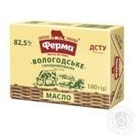 Масло Ферма Вологодское 82,5% 180г - купить, цены на Novus - фото 1