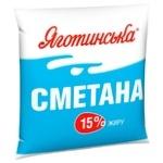 Sour cream Yagotynska 15% 400g