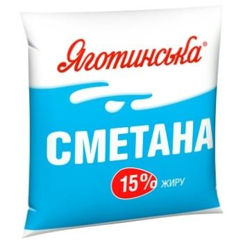 Сметана Яготинська 15% 400г - купити, ціни на ЕКО Маркет - фото 1