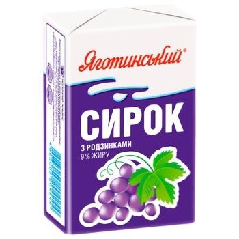 Yagotynsky With Raisins Cottage Cheese 9% 90g - buy, prices for CityMarket - photo 1