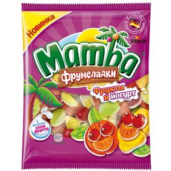 Конфеты жевательные Mamba Фрумеладки Фрукты и йогурт 72г - купить, цены на Восторг - фото 1