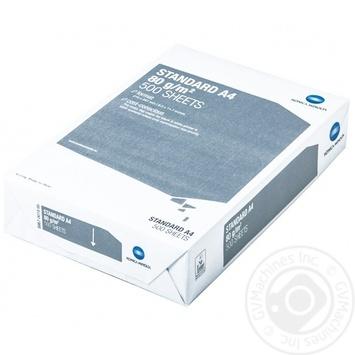 Бумага Konica Minolta Standard А4 500л. - купить, цены на МегаМаркет - фото 1