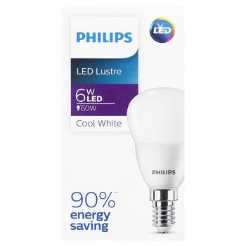 Лампа Philips LED Р45 6Вт E14 - купить, цены на СитиМаркет - фото 1
