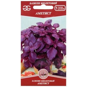 Семена Golden Garden Базилик фиолетовый Аметист 0,3г - купить, цены на Novus - фото 1