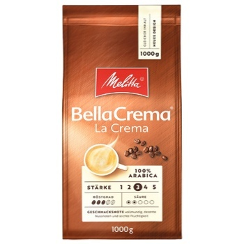 Melitta Bella Crema La Crema Coffee Beans 1kg - buy, prices for Novus - photo 1