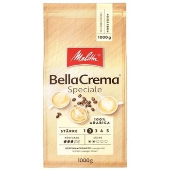 Melitta Bella Crema Speciale Roasted Coffee Beans 1kg - buy, prices for Novus - photo 1