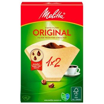 Melitta® Original Paper Coffee Filters 1x2 40pcs - buy, prices for Novus - photo 1