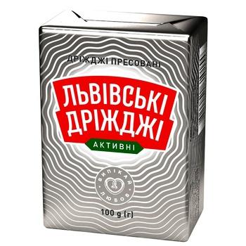 Дрожжи Львовские Дрожжи прессованные 100г - купить, цены на Ашан - фото 1
