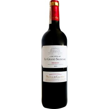 Вино Barton & Guestier Chteau Le Grand Sigognac красное сухое 12,5% 0,75л