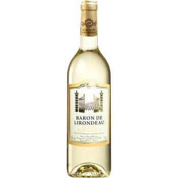 Вино Baron de Lirodeau біле напівсолодке 10.5% 750мл