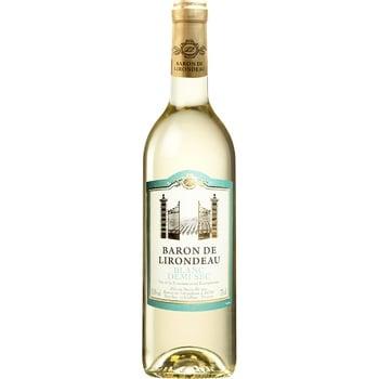 Вино Baron de Lirondeau белое полусухое 11% 0,75л