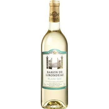 Вино Baron de Lirodeau белое сухое 11% 0,75л - купить, цены на Восторг - фото 1