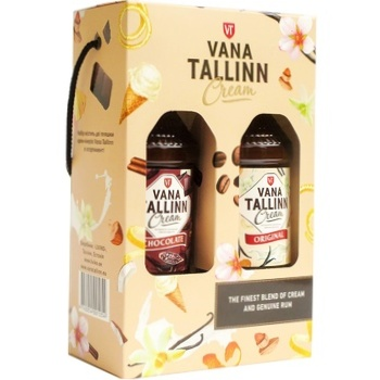 Набор Ликер Vana Tallinn Original + Chocolate 16% 0,5л + 0,5л