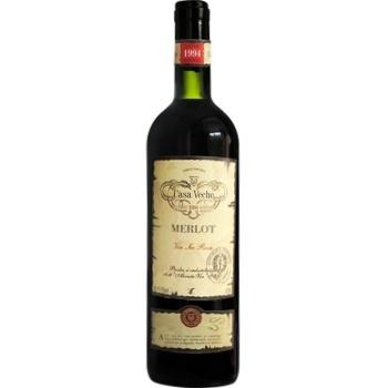 Вино Casa Veche Merlot красное сухое 11-13% 0,75л - купить, цены на МегаМаркет - фото 1