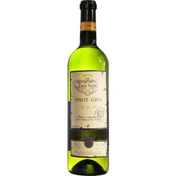 Вино Casa Veche Pinot Gris белое сухое 10-12% 0,75л