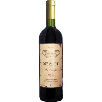 Вино Casa Veche Merlot красное полусухое 10-12% 0,75л