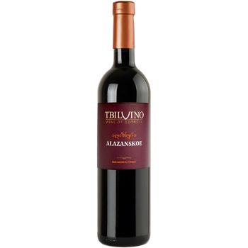 Вино Tbilvino Алазанське червоне напівсолодке 12,5% 0,75л