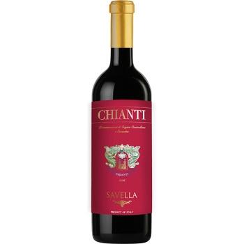 Вино Savella Chianti красное сухое 12% 0,75л