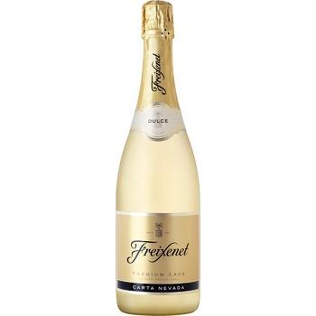 Вино игристое Freixenet Carta Nevada Premium Cava белое сладкое 11,5% 0,75л - купить, цены на Novus - фото 1