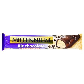 Millenium White Aerated Chocolate Covered with Milk Chocolate 32g - buy, prices for CityMarket - photo 1