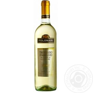 Вино Folonari Trebbiano DAbruzzo белое сухое 0.75л - купить, цены на Фуршет - фото 1
