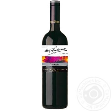 Вино Don Luciano Crianza La Mancha червоне сухе 14% 0,75л - купити, ціни на МегаМаркет - фото 1