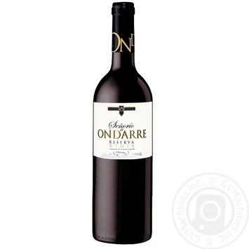 Senorio de Ondarre Reserva Rioja Red Dry Wine 14% 0.75l - buy, prices for CityMarket - photo 1