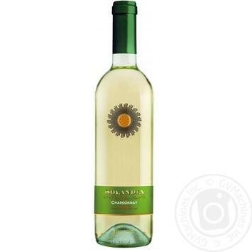 Вино Solandia Chardonnay белое сухое 12,5% 0,75л