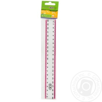 The Zibi Plastic Ruler With Color Strip 20cm - buy, prices for CityMarket - photo 4