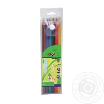 Карандаши цветные ZiBi в пенале 6 цветов