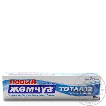Зубная паста Новый Жемчуг Тотал 12 + нежное отбеливание 100мл