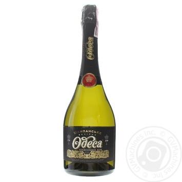 Вино ігристе Таїрово Вечірня Одеса біле напівсолодке 12% 0,75л