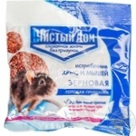 Принада зернова від щурів і мишей Чистий дім пак 200гр 50 шт/кор 03028