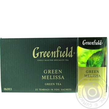 Tea Greenfield melissa packed 37g