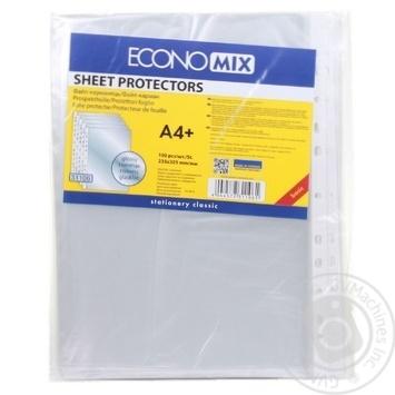 Файлы EconoMix А4+ 30мкм глянцевые 100шт - купить, цены на Метро - фото 3