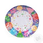 Unipak Plate Paper Disposable Children's 23cm 10pcs