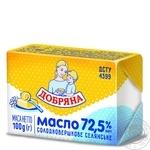 Масло Добряна Селянское сладкосливочное 72,5% 100г