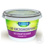 Творог LatteR нежирный безлактозный 150г - купить, цены на Novus - фото 1